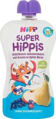 HiPP BIO Super HiPPiS jabłka- gruszki-jagody-porzeczki-aronia Mus owocowy