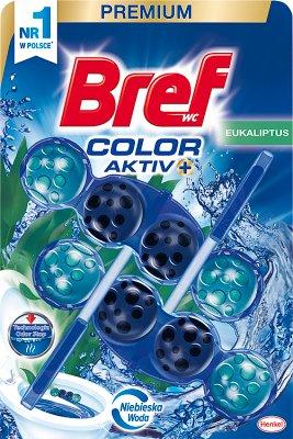 Bref Color Aktiv Zawieszka  myjąco-zapachowa do WC Eukaliptus