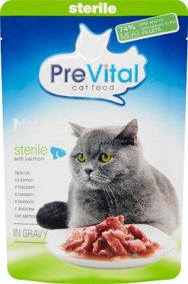 PreVital pełnoporcjowa karma dla dorosłych kotów po zabiegu sterylizacji  fileciki z łososiem w sosie