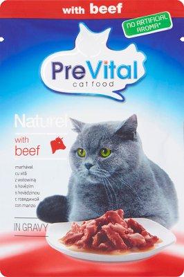 PreVital pełnoporcjowa karma dla dorosłych kotów z wołowiną w sosie
