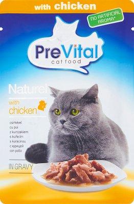 PreVital pełnoporcjowa karma dla dorosłych kotów z kurczakiem w sosie
