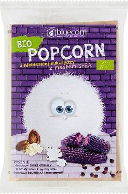 Popcrop Popcorn z niebieskiej Kukurydzy z Masłem Shea i Solą, do przygotowania w mikrofalówce, BIO