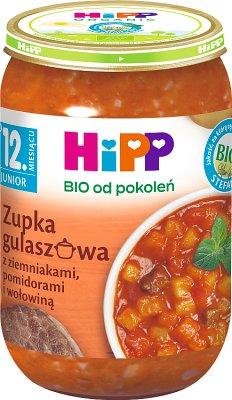 HiPP BIO Junior Zupka gulaszowa z ziemniakami pomidorami i wołowiną po 12. miesiącu 250 g