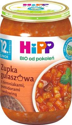 HiPP Zupka gulaszowa z ziemniakami pomidorami i wołowiną BIO