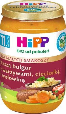 HiPP Bulgur mit Gemüse, Kichererbsen und Rindfleisch BIO