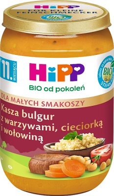 HiPP Kasza bulgur z warzywami, cieciorką i wołowiną BIO