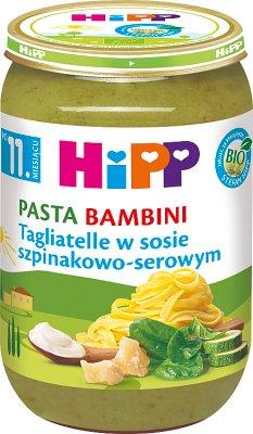 HiPP BIO Pasta Bambini Tagliatelle w sosie szpinakowo-serowym po 11. miesiącu 220 g