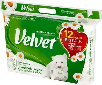 Velvet Papier toaletowy rumianek i aloes