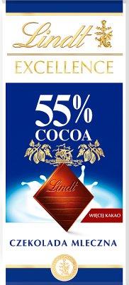 Lindt Excellence 55% Cocoa  Czekolada mleczna