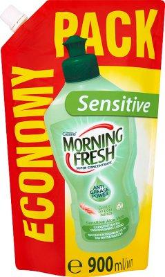 Morning Fresh Sensitive Aloe Vera. Концентрированная жидкость для мытья посуды