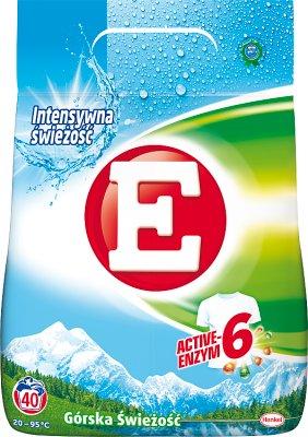 Стиральный порошок Е для белых тканей. Горная свежесть