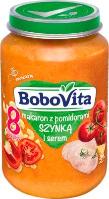BoboVita obiadek makaron z pomidorami, szynką i serem