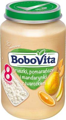 BoboVita Gruszki, pomarańcze  i mandarynki z twarożkiem