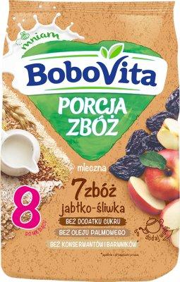 BoboVita Porcja Zbóż kaszka mleczna 7 zbóż jabłko-śliwka