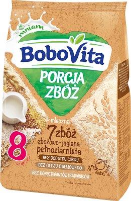 BoboVita Porcja Zbóż Kaszka mleczna 7 zbóż zbożowo-jaglana