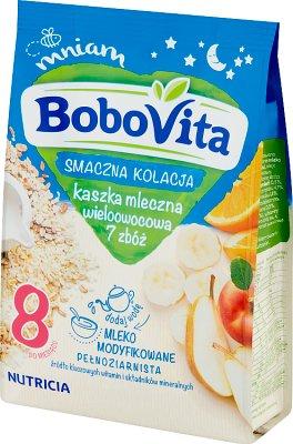 BoboVita Smaczna Kolacja Kaszka mleczna wieloowocowa 7 zbóż