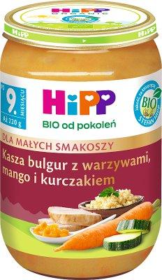 HiPP Bulgur z warzywami,mango  i kurczakiem BIO
