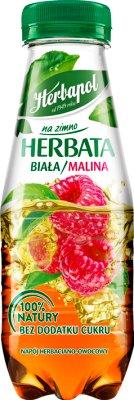 Herbapol na zimno Herbata Napój herbaciano-owocowy o smaku malinowym  z ekstraktem białej herbaty, niegazowany