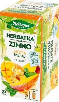 Herbapol Herbatka na zimno  o smaku mięty z mango