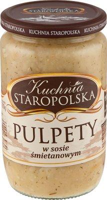Kuchnia Staropolska Pulpety w sosie śmietanowym