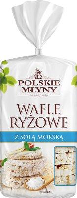 Polskie Młyny wafle ryżowe z solą  morską