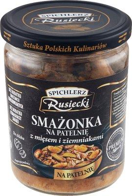 Spichlerz Rusiecki Smażonka na  patelnię z mięsem i ziemniakami