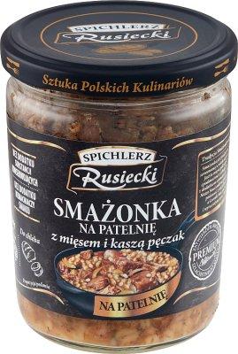 Spichlerz Rusiecki Smażonka na  patelnię z mięsem i kaszą pęczak