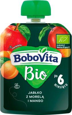 BoboVita BIO mus w tubce jabłko z morelą i mango