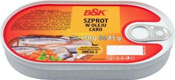 B&K Szprot w oleju caro