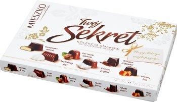 Mieszko Twój Sekret Praliny  w czekoladzie mlecznej i deserowej