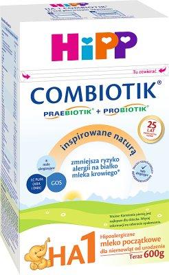 HiPP HA1 COMBIOTIK Hipoalergiczne mleko początkowe dla niemowląt