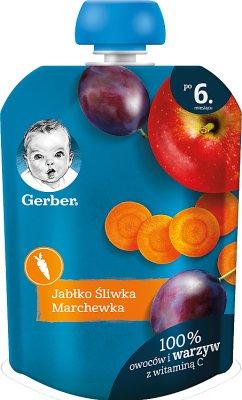 Gerber Deserek Jabłko śliwka  marchewka