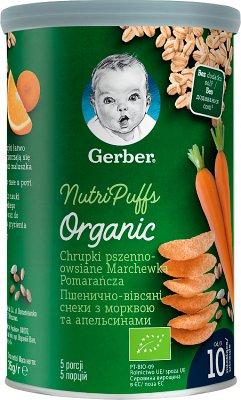 Gerber Nutripuffs Chrupki pszenno-owsiane marchewka pomarańcza