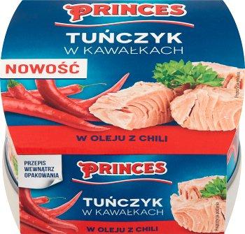 Princes Tuńczyk w kawałkach  w oleju z chili