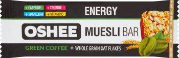 Oshee Energy Baton musli  z orzechami i rodzynkami o smaku kawowym