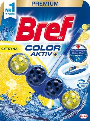 Bref WC Color Aktiv+ Zawieszka  do muszli WC cytryna