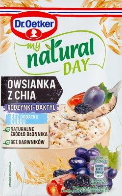 Dr. Oetker My Natural Day Owsianka  z chia rodzynki-daktyl