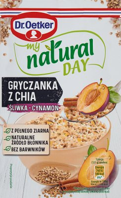 Dr. Oetker My Natural Day Gryczanka z chia śliwka-cynamon