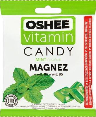 Oshee Vitamin Candy Suplement diety Karmelki twarde o smaku miętowym