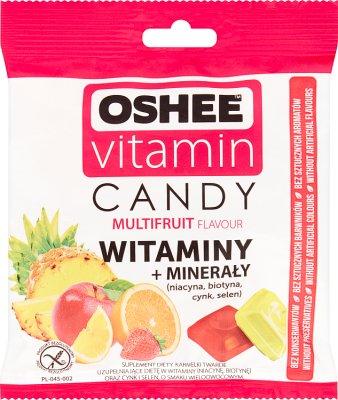 Oshee Vitamin Candy Suplement diety Karmelki twarde o smaku wieloowocowym