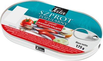 Fala Szprot popularny w sosie  pomidorowym