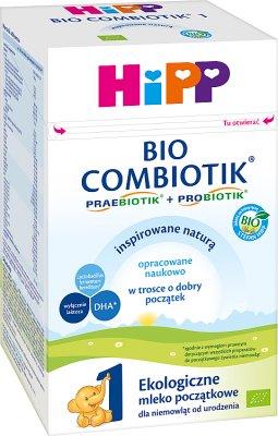 HiPP 1 BIO Combiotik Ekologiczne mleko początkowe dla niemowląt od urodzenia 550 g
