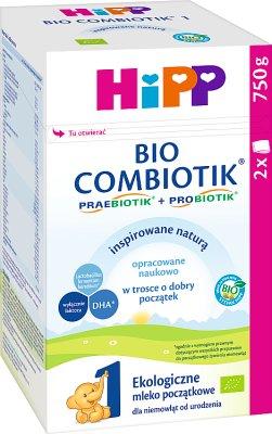 HIPP 1 BIO COMBIOTIK Ekologiczne mleko początkowe dla niemowląt od urodzenia
