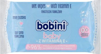 Bobini Baby chusteczki nawilżane  dla dzieci i niemowląt z witaminą E