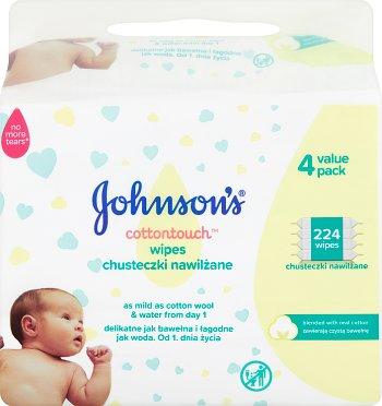 Johnson's Baby Chusteczki  nawilżane 4x56szt