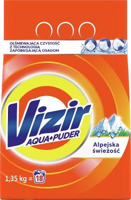 Vizir Alpejska Świeżość Proszek  do prania tkanin białych i w jasnych kolorach