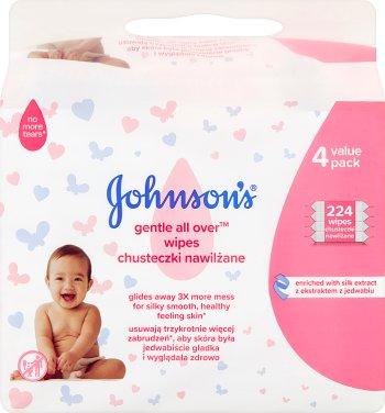 Johnson's Baby Chusteczki  delikatnie oczyszczające 4x56szt