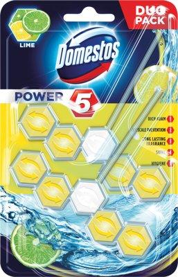 Domestos Power 5 Lime Kostka  toaletowa 2 x 55 g