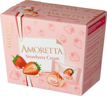 Mieszko bombonierka Amoretta wafel z kremem jogurtowo - truskawkowym