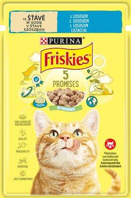 Purina Friskies karma dla kota w sosie z łososiem